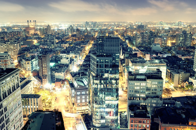 East Village at Night, New York City