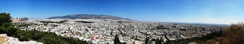 Panoramic view of Athens from Filopappou Hill