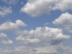 Blue sky with clouds 003