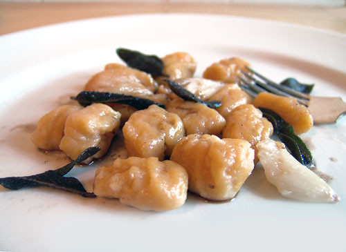 Squash Gnocchi with Roasted Garlic and Sage Brown Butter