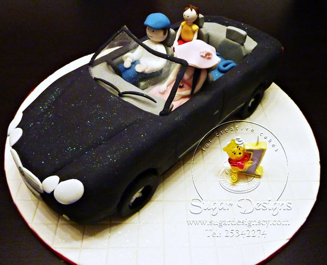 Mercedes cake by sugar designs for Mercedes benz cake design
