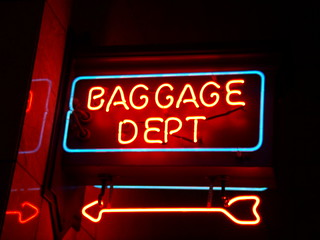 Baggage Dept Sign