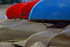 Canoes at Watson Lake, Prescott, Arizona