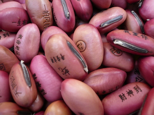 Etched beans, Dalian, China