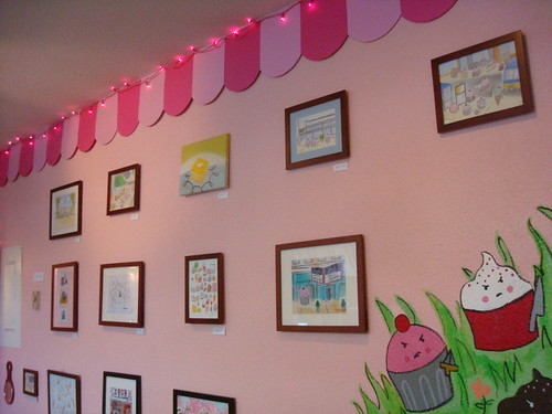 Back wall at CakeSpy Shop