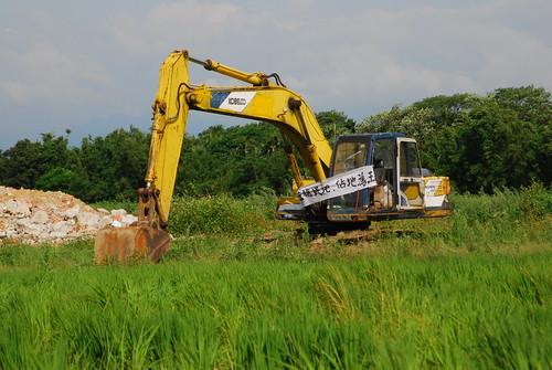 怪手毀田。圖片來源:台灣環境資訊協會