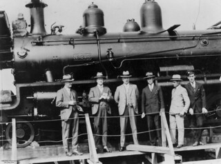Locomotive aboard the M.S. Belray at Pinkenba Wharf, Brisbane, Queensland, 7 July 1927
