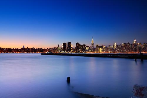 sunset skyline brooklyn geotagged cityscape dusk ruin esb bankofamerica williamsburg empirestatebuilding gothamist chryslerbuilding greenpoint hdr mudpig stevekelley