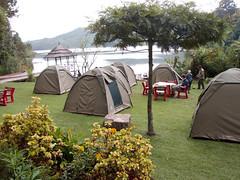 Camping at Lake Bunyonyi