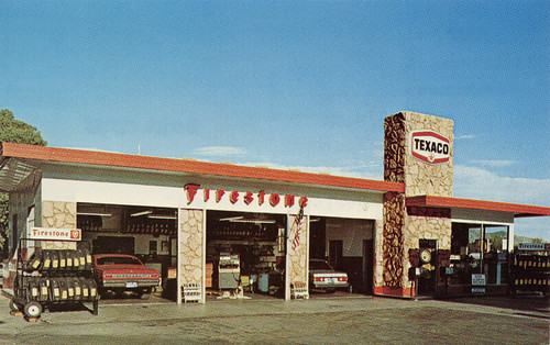Texaco Gas Station, 1970's