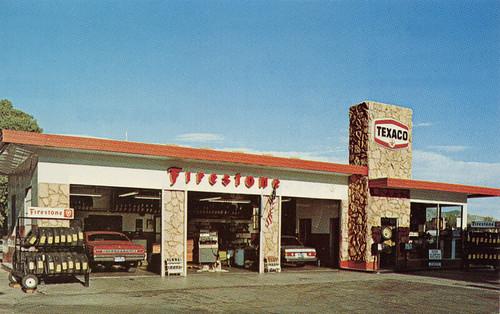 Texaco Gas Station, 1970's