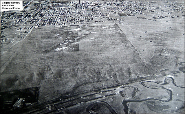 Historical Photo of Calgary Renfrew. . . . . (Aerial View)