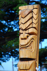 carving, art, wood, tree, sculpture, tiki,