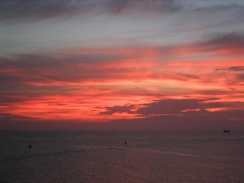 ocean sunset sea sky redsea maritime bouy djibouti