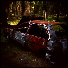 Burnt out car I