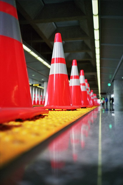 San Francisco Airport BART Station Cones