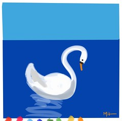 water bird, swan, wing, font, cartoon, illustration, bird,