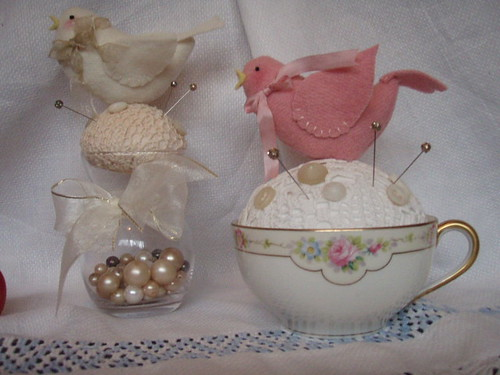 Cream and Pink birds