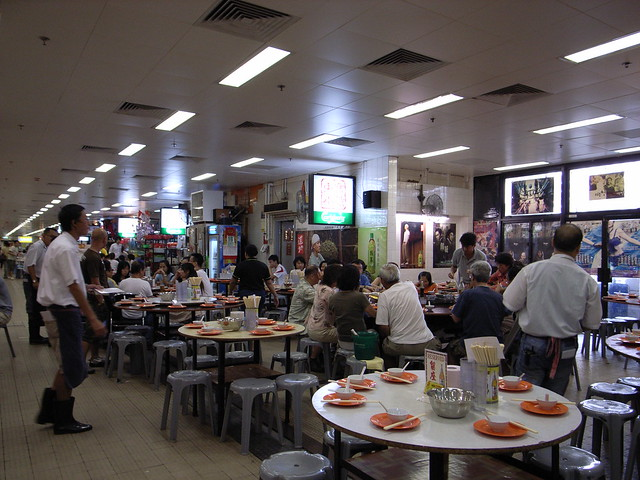 Local Chinese restaurant inside marketplace Hong Kong