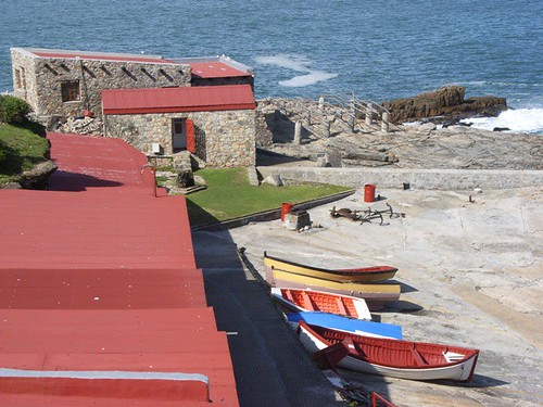 A view of Hermanus Esplanade, South Africa.