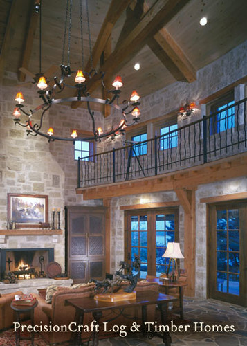 Custom Timber Frame Home Design | Located in Possum Kingdom Texas | by PrecisionCraft Timber Frame Homes