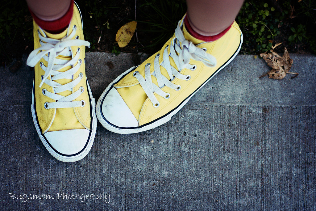 by thebugsmommy .yellow high top converse.  0821cbf61