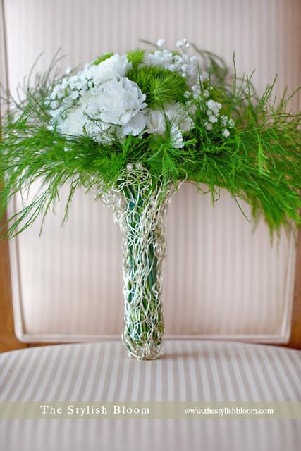 Winter Wonderland bridal bouquet Design in The Stylish Bloom