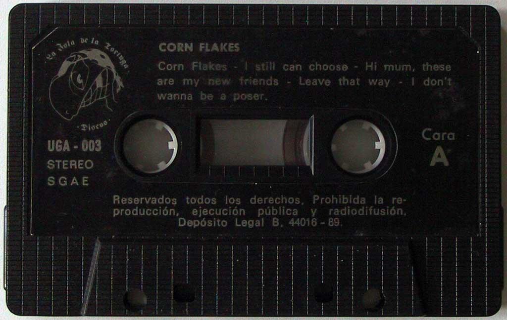 """Maqueta de Corn Flakes - """"No Comment"""" (del 89)."""