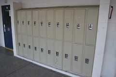 wall, room, locker, door,
