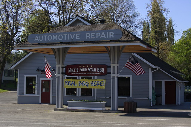 Auto Service Building : Automotive repair building turn into a star bbq yummy