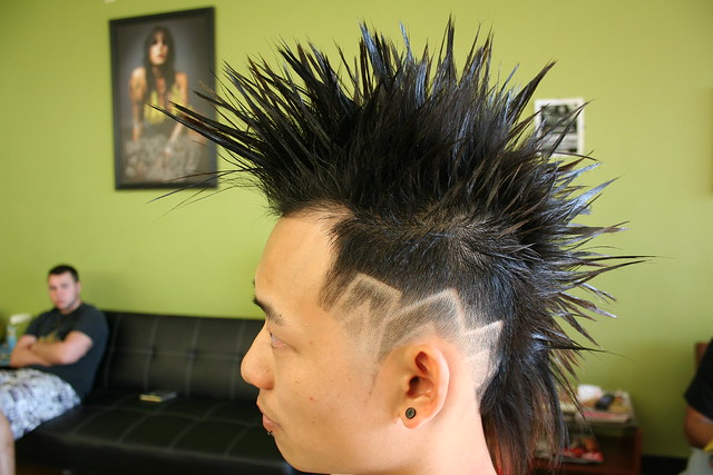 mohawk haircut with design 3 of 3 contemporary mohawk