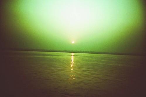 india sunrise river ganges 日出 印度 恆河