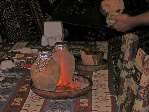 Kisköcsögben főzött étel (Avanos-Kapadokya)
