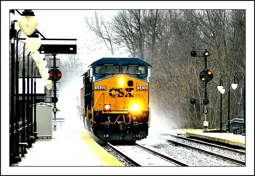 "railroad winter light snow color train md maryland rail railway trains signals transportation signal freight position cpl csx dorsey дорога intermodal "" csxt железная 铁路 ""железная"