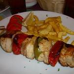 Fries and Grilled Fish - Turkmenbashi, Turkmenistan