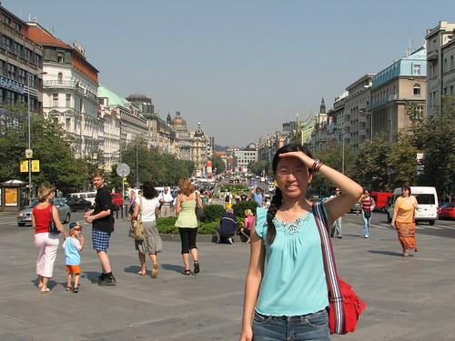 瓦次拉夫廣場-太陽好大.
