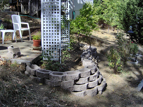 rose arbor retainingwall landscapeunits