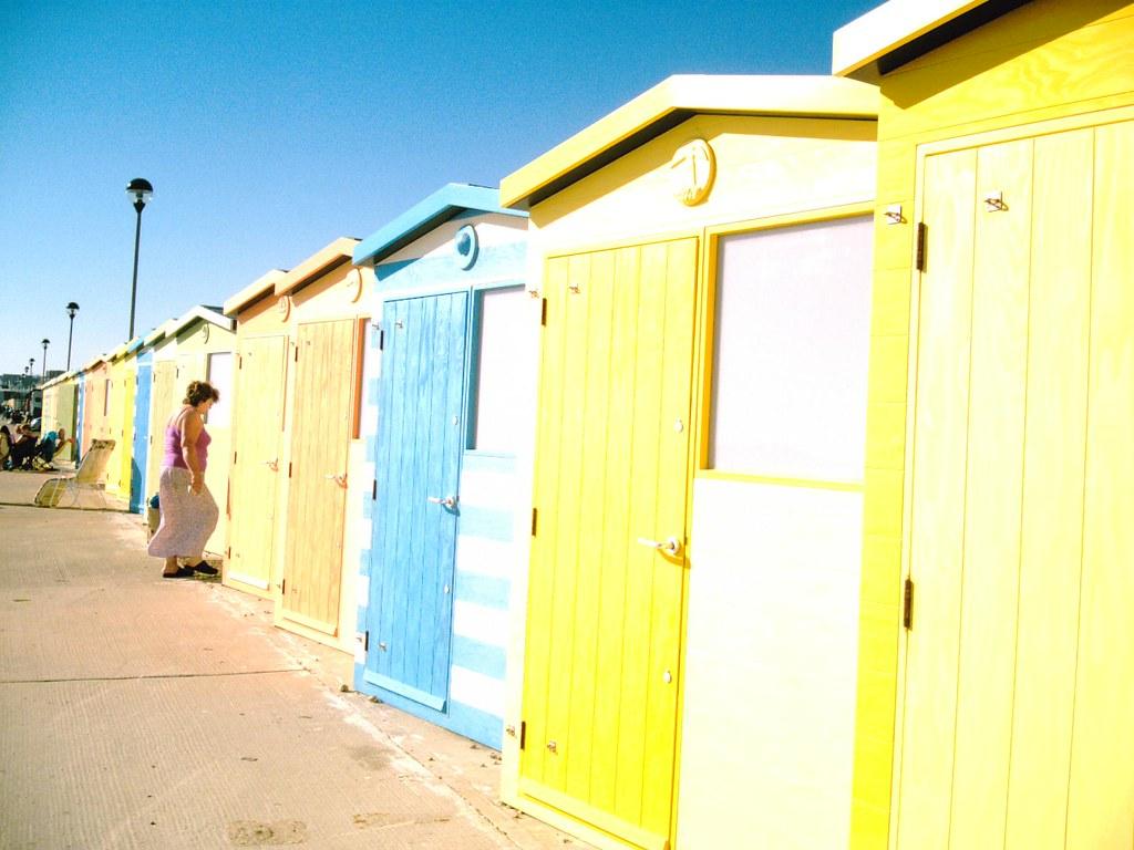 Seaford Beach huts. D.Allen Vivitar 5199