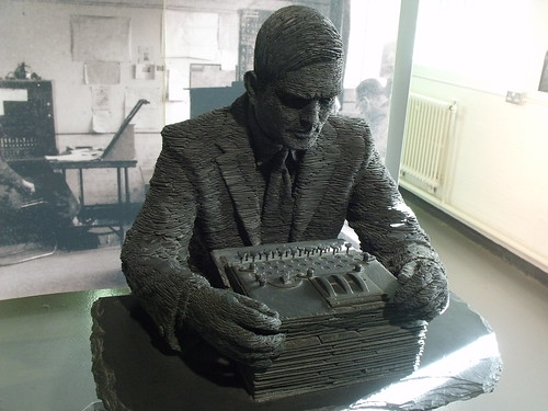 Bletchley Park - Block B - The Bletchley Park Story - Statue of Alan Turing - by Stephen Kettle