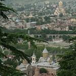Aerial View of Tbilisi from Kartis Deda - Tbilisi, Georgia