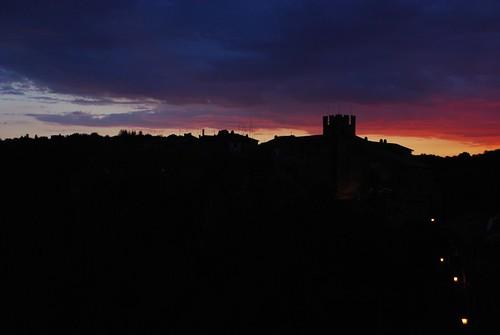 sunset tramonto calcata icomei