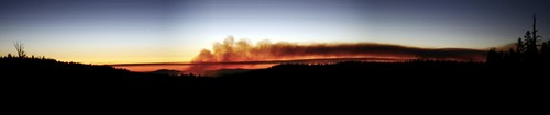 Yosemite fire panorama