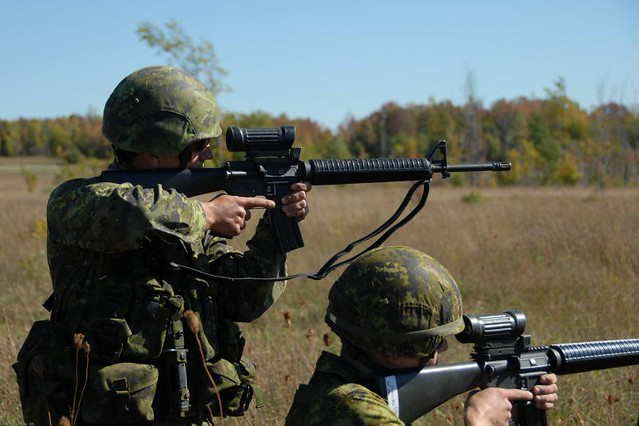 Canadian Forces Soldiers C7 5.56mm Rifle