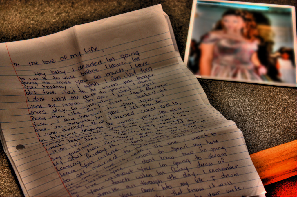 Farewell Love Letter | In the letter, my love asked me to pr