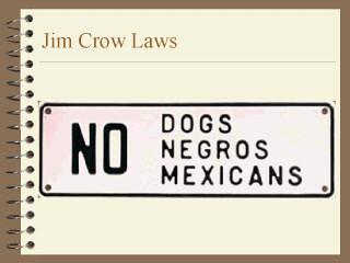 Essay/Term paper: Jim crow laws