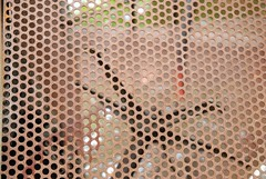 honeycomb(0.0), textile(0.0), chain-link fencing(0.0), line(0.0), net(0.0), design(0.0), flooring(0.0), art(1.0), mesh(1.0), circle(1.0),