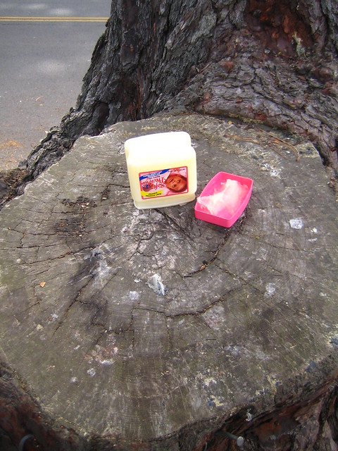 discarded vaseline