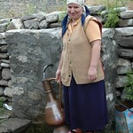 Woman Getting Water from a Spring - Lahic, Azerbaijan