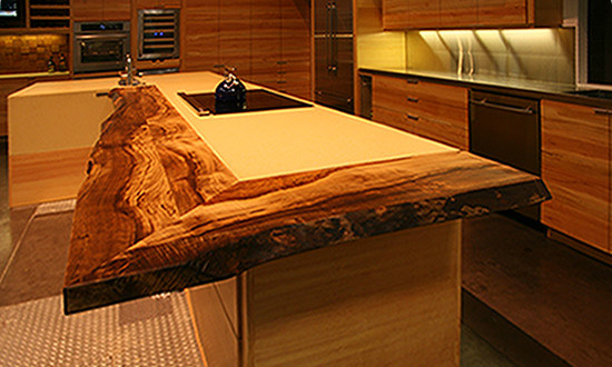 Ultimate Kitchen Live Edge Countertops Of Reclaimed Myrtle