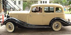 automobile, vehicle, antique car, sedan, ford model b, model 18, & model 40, classic car, vintage car, land vehicle, luxury vehicle, motor vehicle,